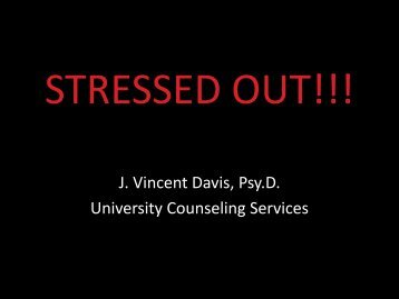 STRESSED OUT!!! - Howard University
