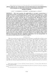 applicability of averaged concentrations in determining geochemical ...