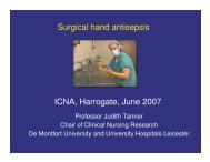 Surgical hand antisepsis - Infection Prevention Society