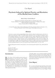 Psychosis Induced by Spiritual Practice and - German Journal of ...