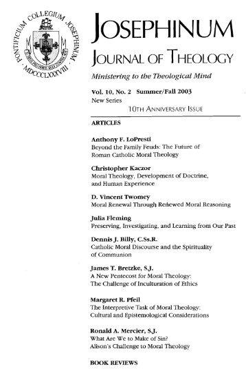 Ministering to the Theologzcal Mind - Loyola Marymount University