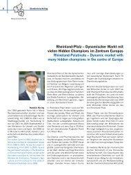 Rheinland-Pfalz – Dynamischer Markt mit vielen Hidden Champions ...