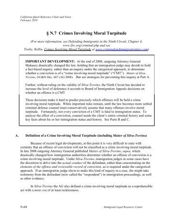 N 7 Crimes Involving M Turpitude