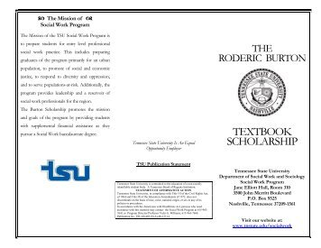 Dr. Roderic Burton Textbook Scholarship Brochure.pdf - Tennessee ...