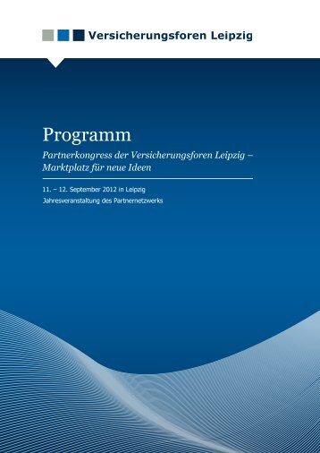 Programmheft - Versicherungsforen Leipzig