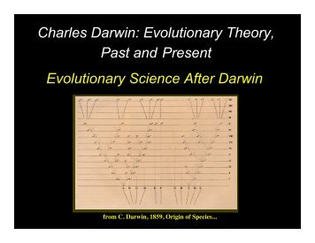Evolutionary Science After Darwin Charles Darwin: Evolutionary ...