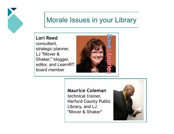 Slides Morale Issues in Your Library - WebJunction
