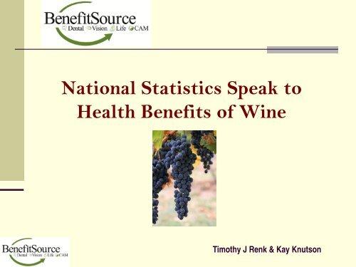 Health Benefits of Wine CE - Nmrgahu org