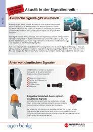 Akustik in der Signaltechnik -;