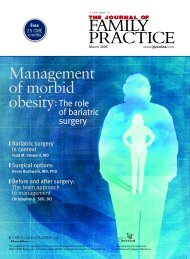 Management of morbid obesity - The Journal of Family Practice