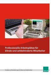 Professionelle Arbeitsplätze für blinde und sehbehinderte Mitarbeiter