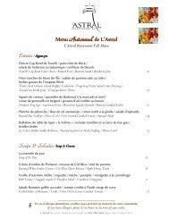 Consulter le menu