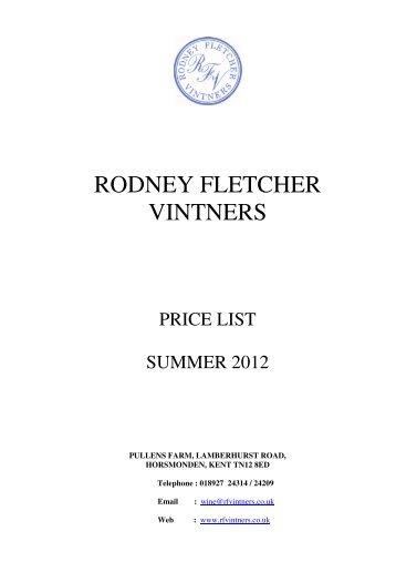 RODNEY FLETCHER VINTNERS