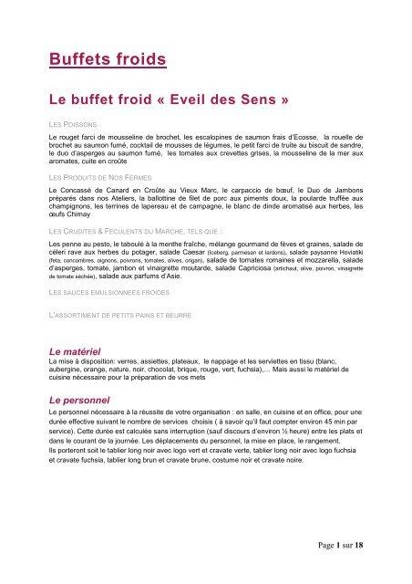 Buffets Froids Traiteur Paulus