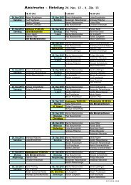 Ministranten - Einteilung 24. Nov. 12 - 6. Jän. 13 - Pfarre Zwettl an ...