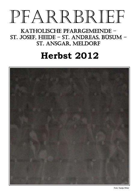 Herbst 2012 - Katholische Pfarrgemeinde St. Josef - Heide