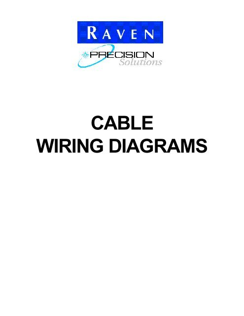CABLE WIRING DIAGRAMS - RavenYumpu