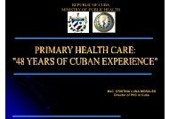 REPUBLIC OF CUBA MINISTRY OF PUBLIC HEALTH - What is GIS