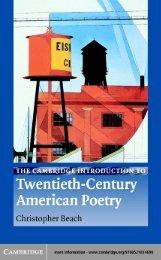 The Cambridge Introduction to Twentieth-Century American Poetry ...