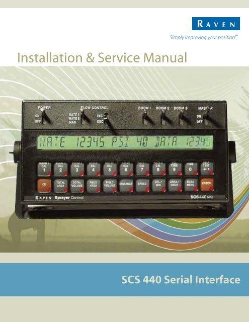 Raven Scs 440 Wiring Diagram | Machine Repair Manual on
