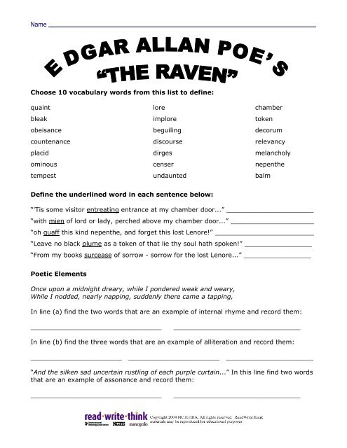 the raven translation by stanza