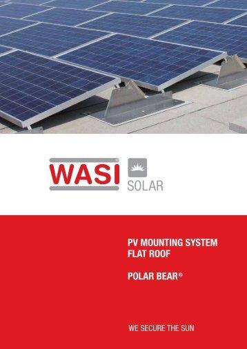 PV MOUNTING SYSTEM FLAT ROOF POLAR BEAR® - wasi.de