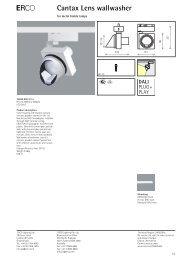 E Cantax Lens wallwasher - Erco