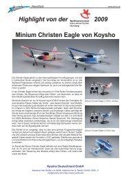 Highlight von der 2009 Minium Christen Eagle von Koysho - Airmix