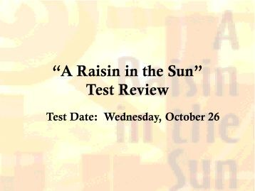 a raisin in the sun essay questions and answers Studying for a raisin in the sun we have tons of study questions for you here, all completely free.