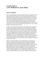 LOST HORIZON by James Hilton - Ingram Library Services