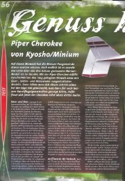 Piper Cherokee von Kyosho/Minium