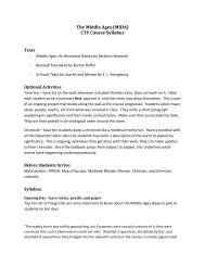 The Middle Ages (MIDA) CTY Course Syllabus