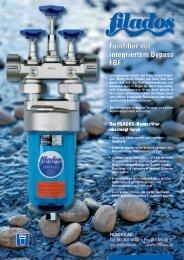 Feinfilter mit integriertem Bypass FBF Feinfilter mit ... - Filados AG