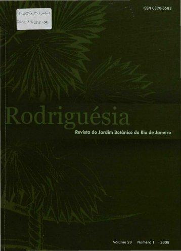 Revista do Jardim Botânico do Rio de Janeiro - Fundação Biblioteca ...