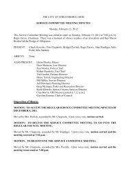 Service Committee 02-13-12 Minutes.pdf - Streetsboro