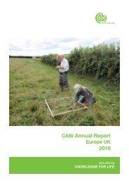 Annual Report CABI Europe UK 2010