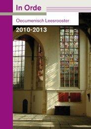 Leesrooster 2012 - 2013 - Raad van Kerken in Nederland