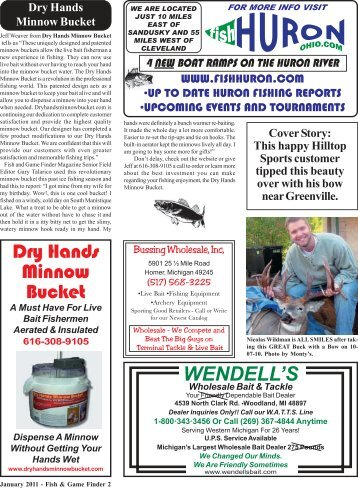 Dry Hands Minnow Bucket - Fish and Game Finder Magazine