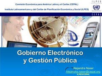 Gobierno Electrónico y Gestión Pública