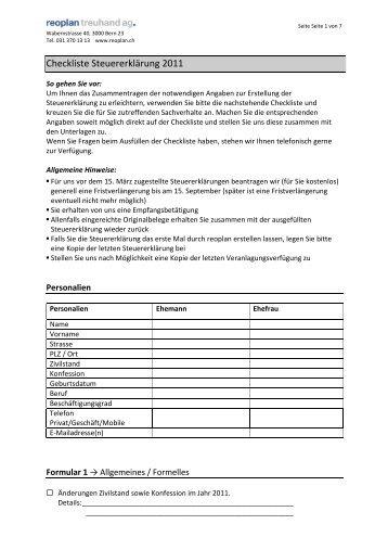 Pdf steuererklarung 2011 formular