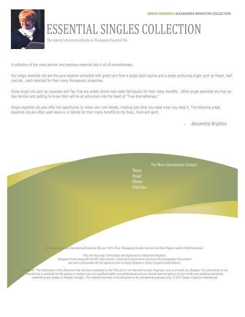 Product Fact Sheet - Green Organics International
