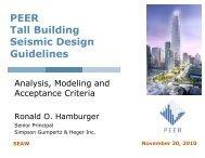 PEER Tall Building Seismic Design Guidelines