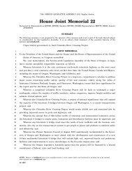 HJM 0022 - Oregon State Legislature