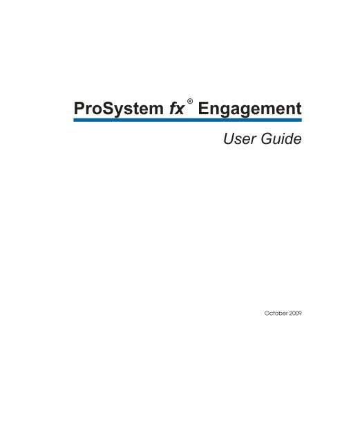 ProSystem fx Engagement - Support - Cch com
