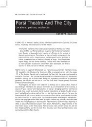Parsi Theatre And The City - The University of Texas at Austin