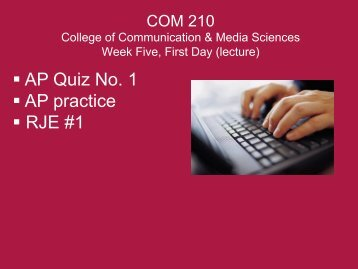AP Quiz No. 1 AP practice RJE #1