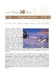 """n° 33 """"Grigna InForma"""" – 31.01.12 - Montagne di Valgrigna"""