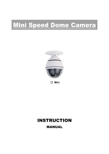High speed Dome Camera User manual