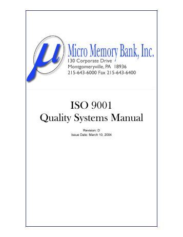 iso 9001 2015 quality manual