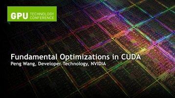Fundamental Optimizations in CUDA - Nvidia